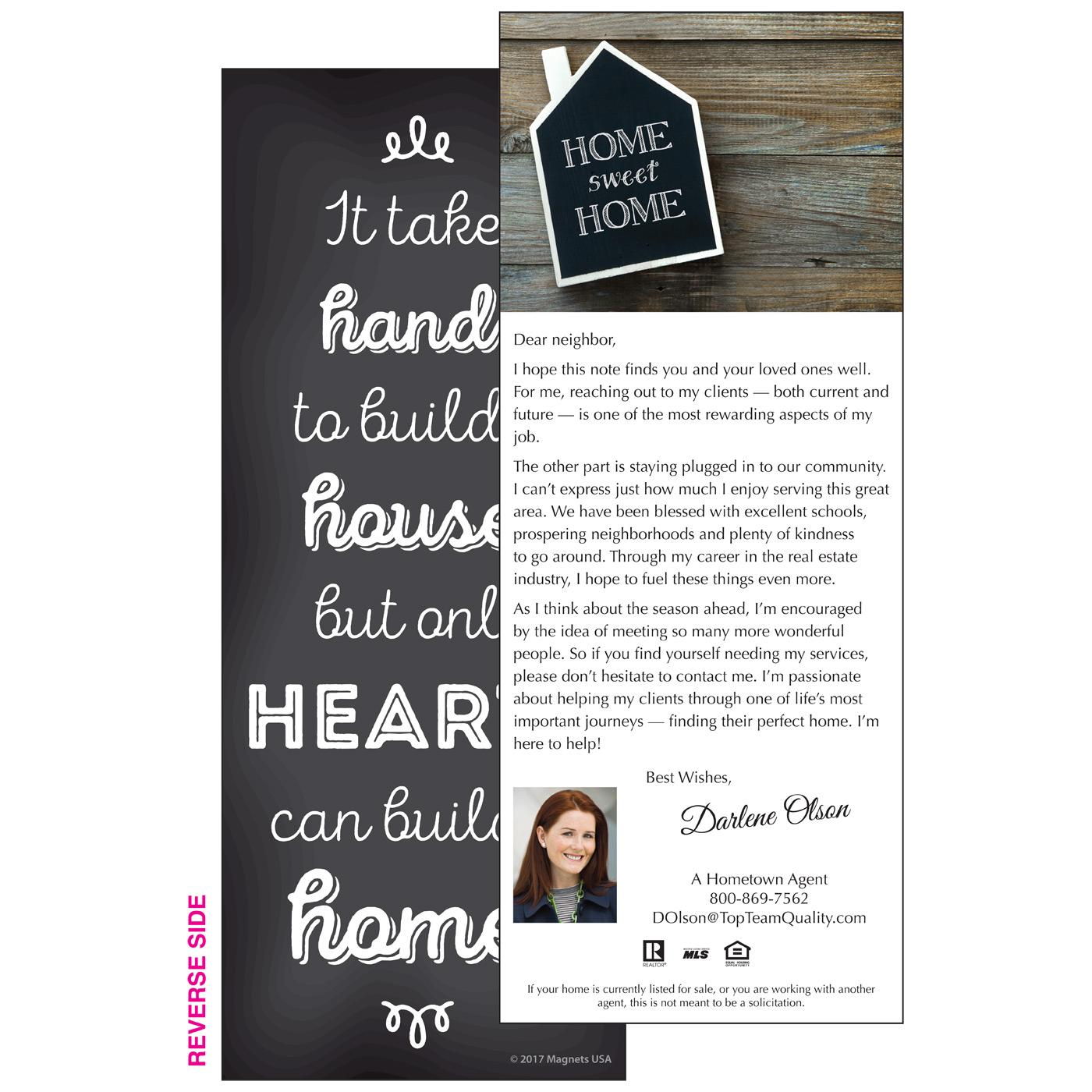 personalized insert with message