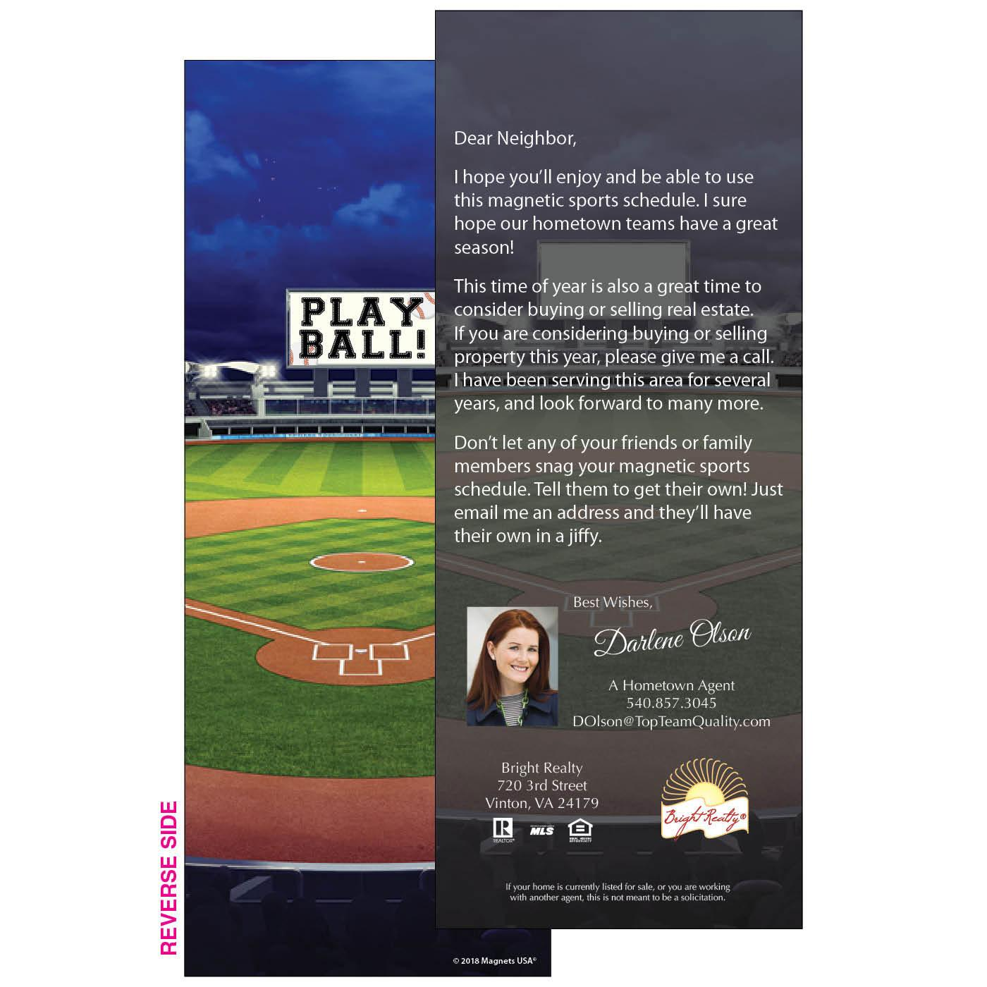 Baseball Personalized Insert