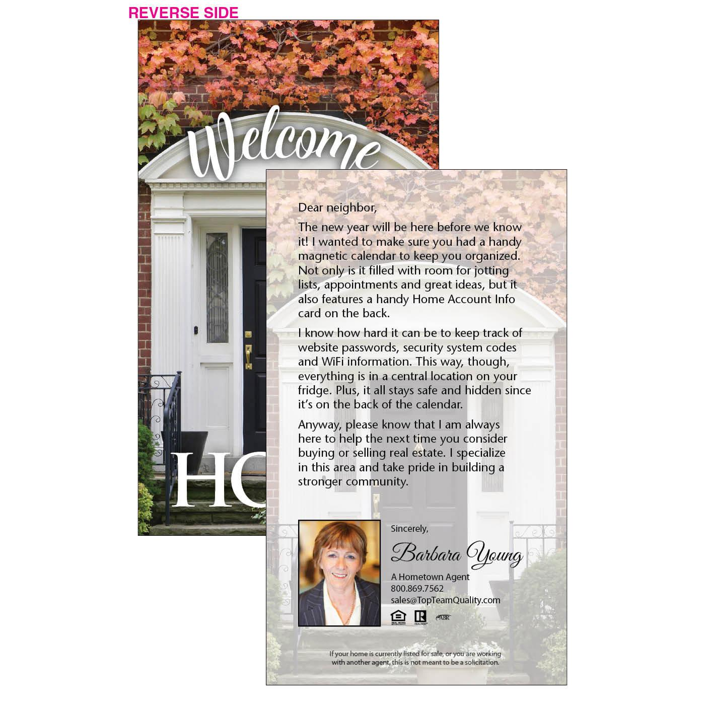 Welcome home insert letter