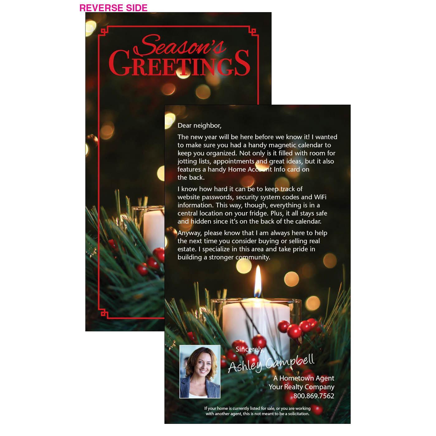 Seasons greeting business letter insert