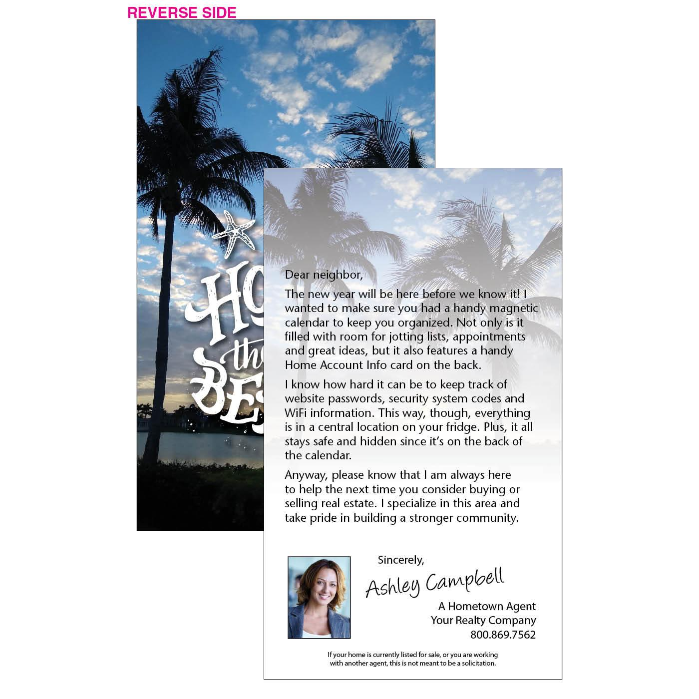Beach home business letter insert
