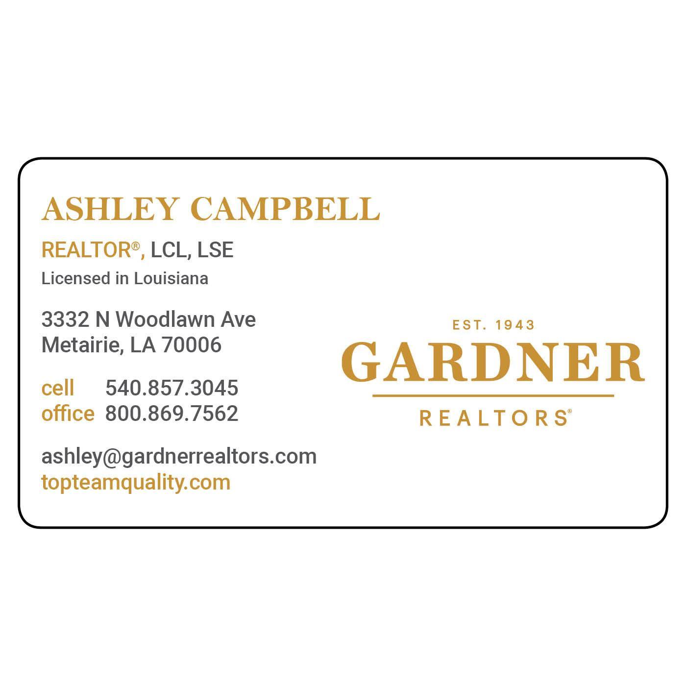 Gardner Magnetic Business Card | Magnets USA®