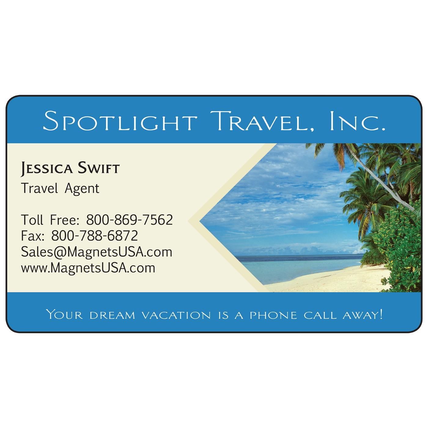 Tropical Beach Magnetic Business Card | Magnets USA®