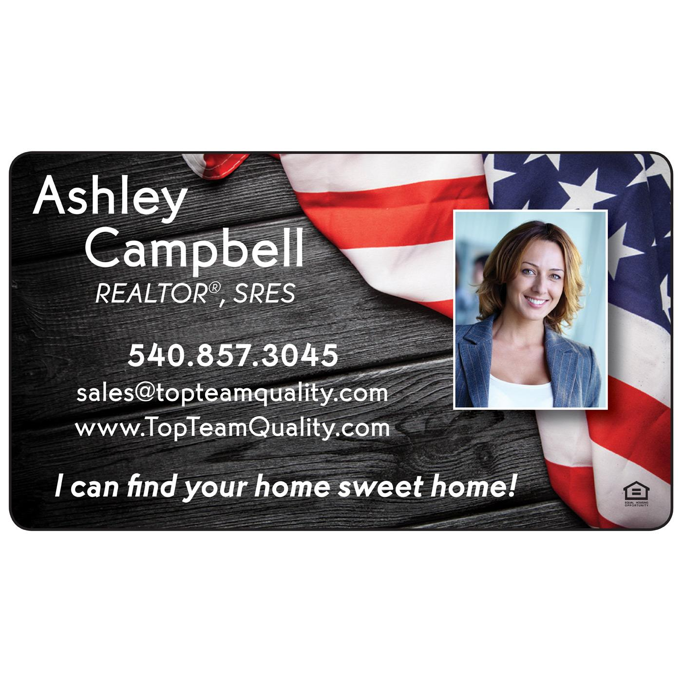 American Flag Magnetic Business Card | Magnets USA®