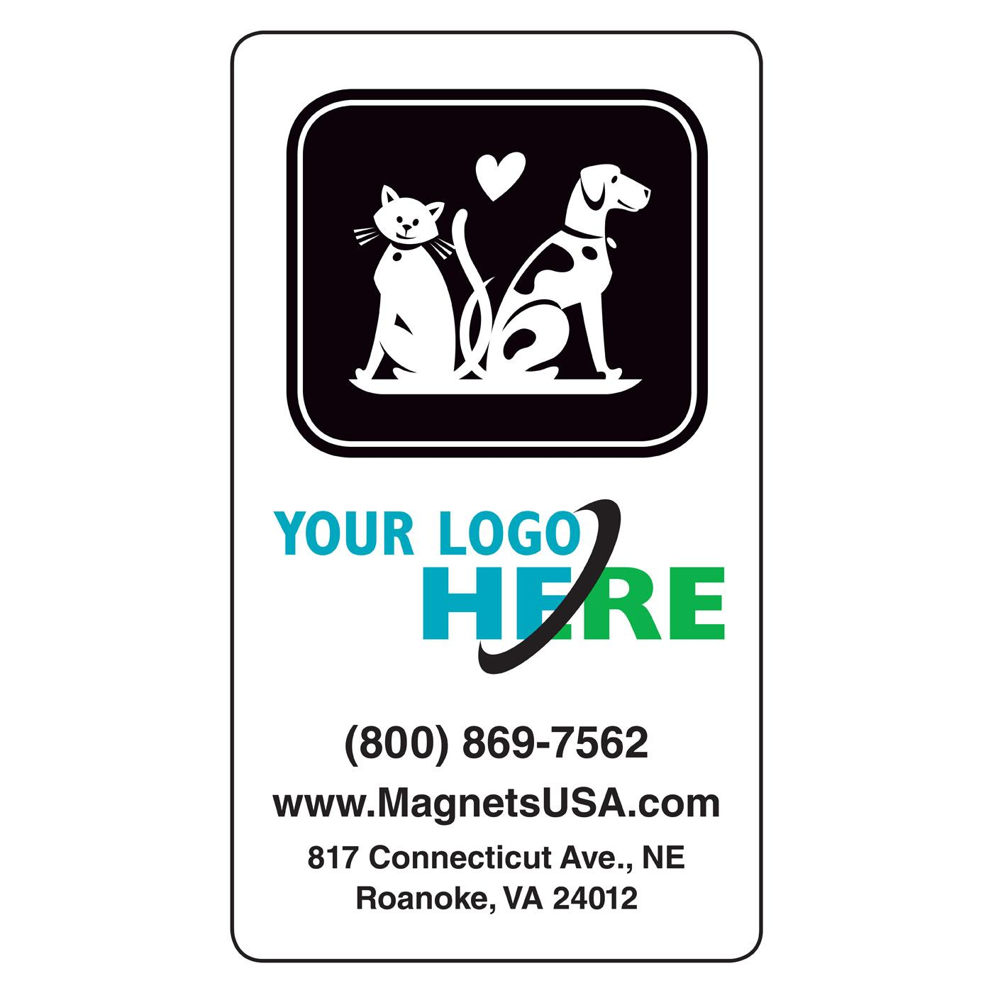 Veterinary Magnetic Business Card | Magnets USA®