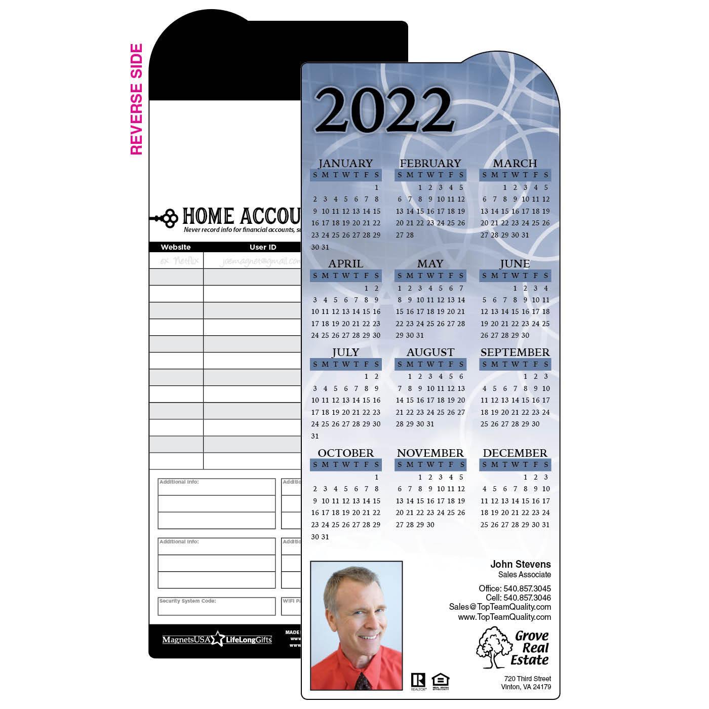 Calendar Magnet with Circle Design