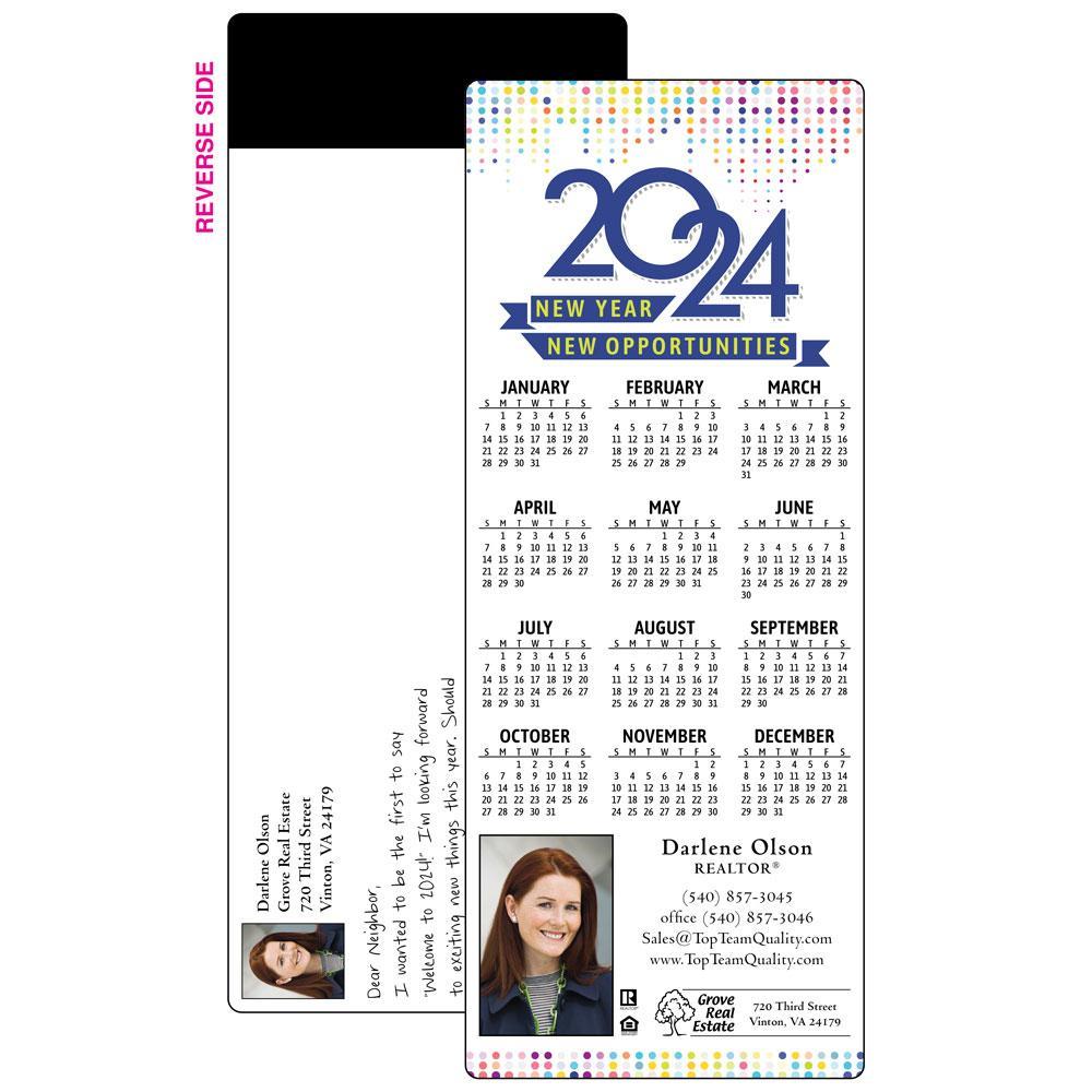 happy new year magnet calendars