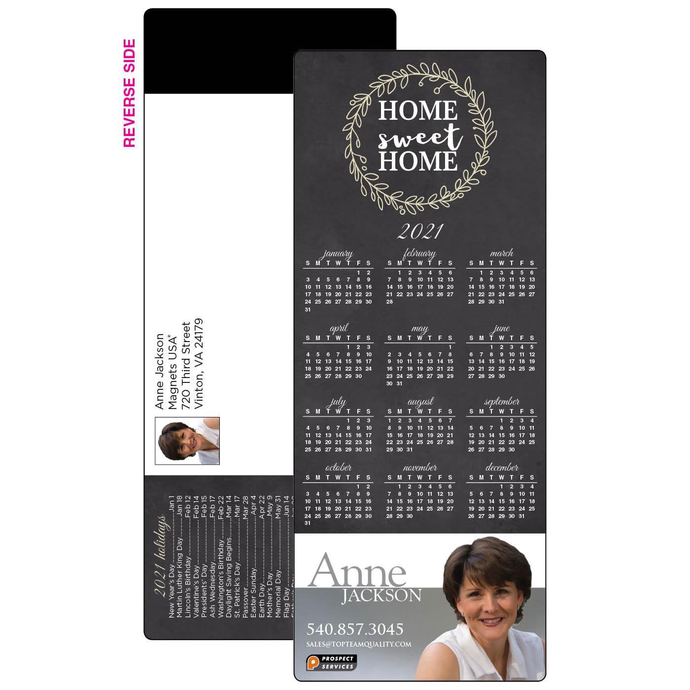 Self-Mailer Magnetic Card Calendar