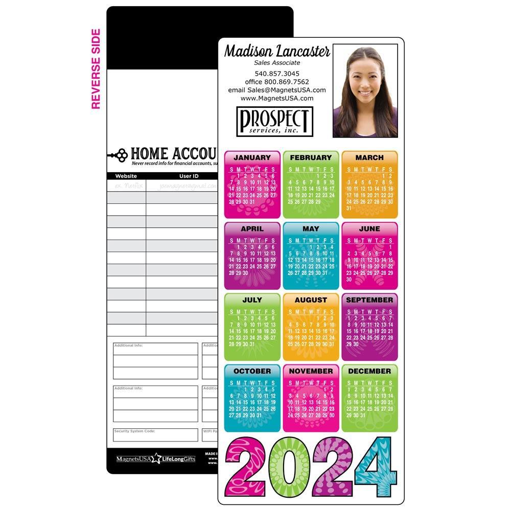 Calendar Magnet with Color Blocks