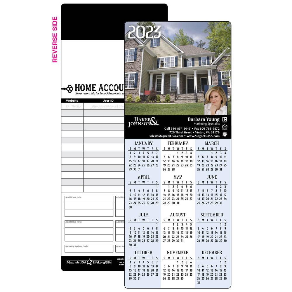 Calendar Magnet with Large House