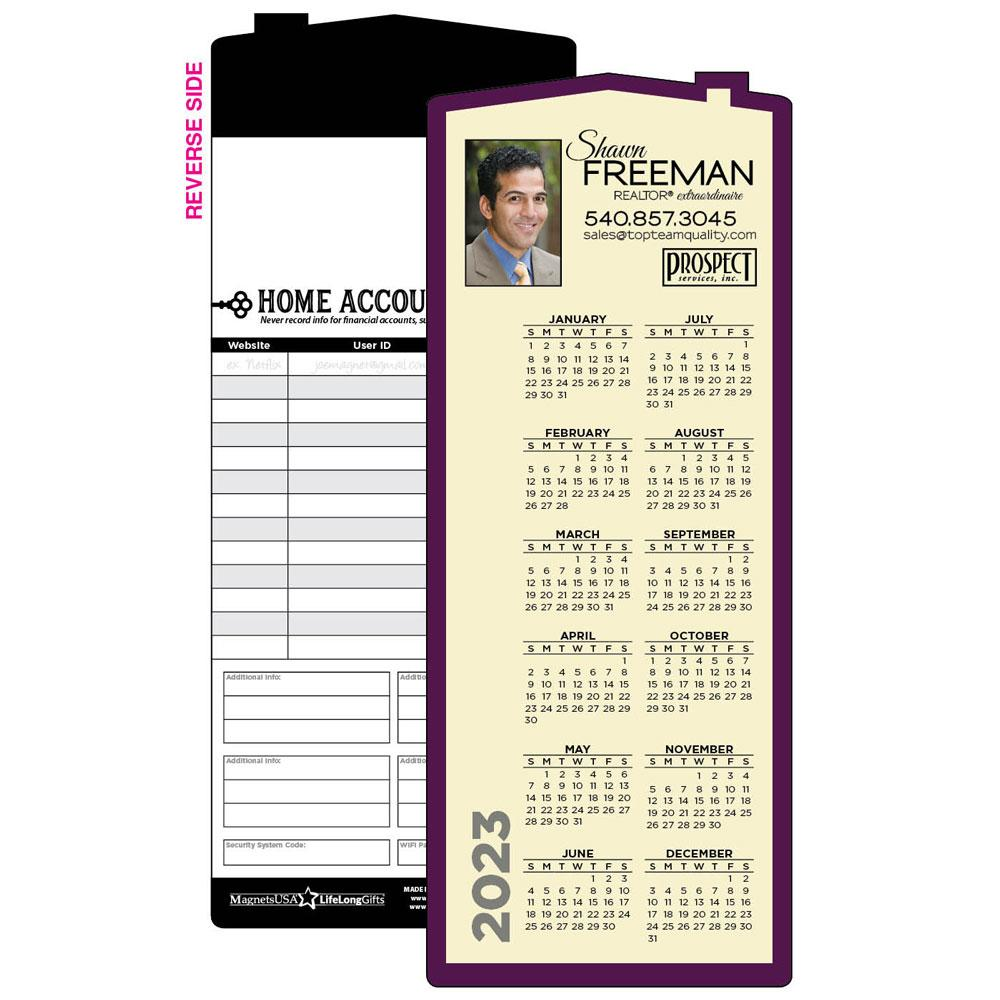 House Calendar Magnet Color Border