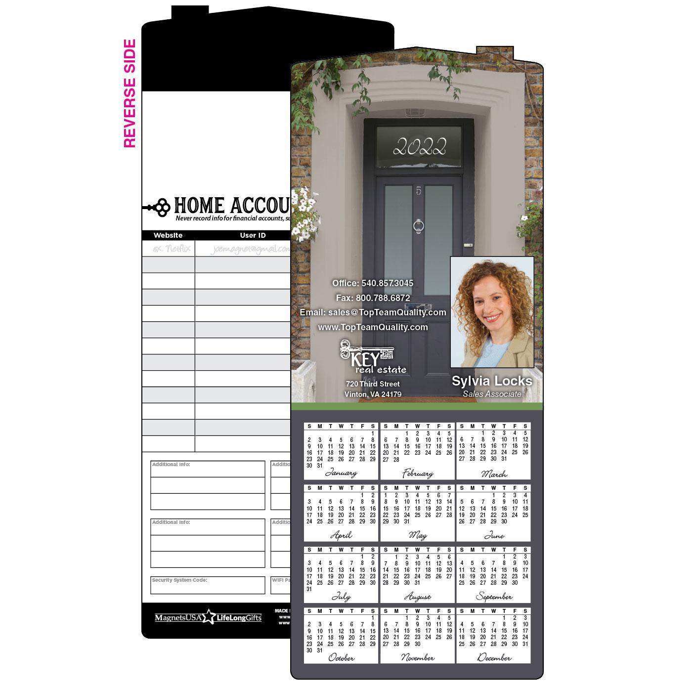 Calendar Magnet with Home Doorway