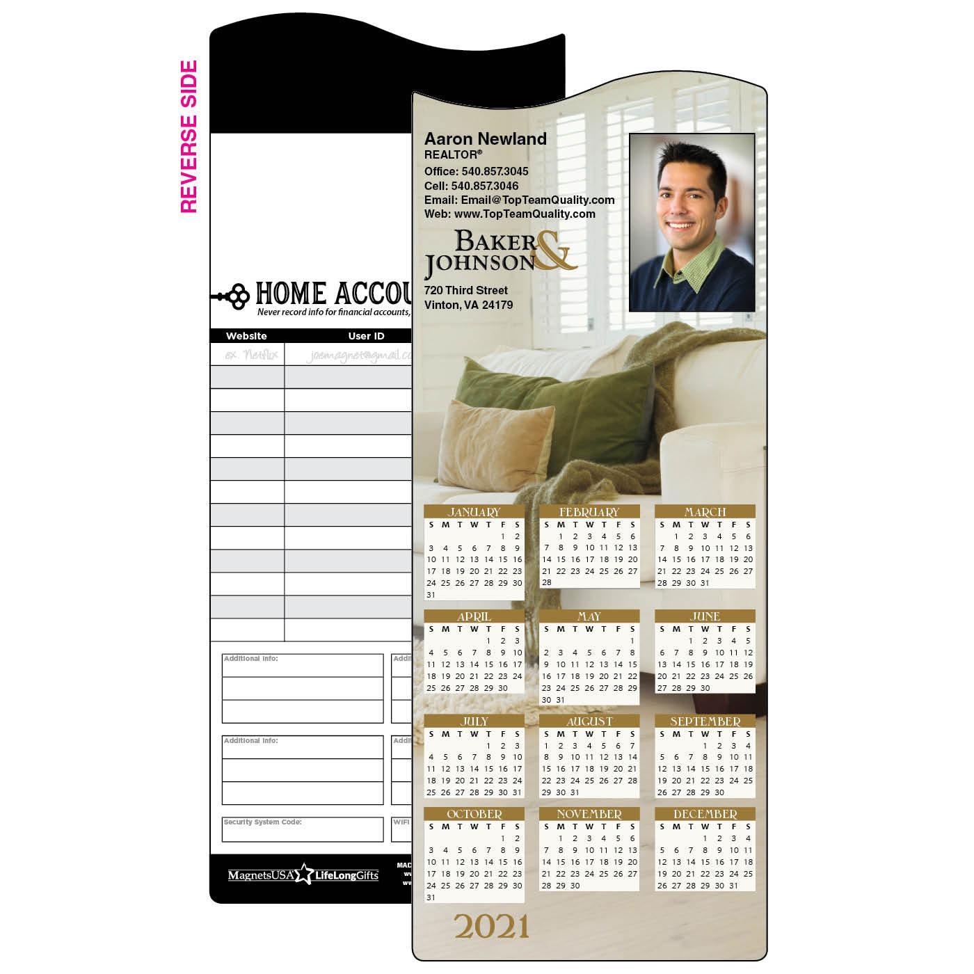 Calendar Magnet with Cozy Home