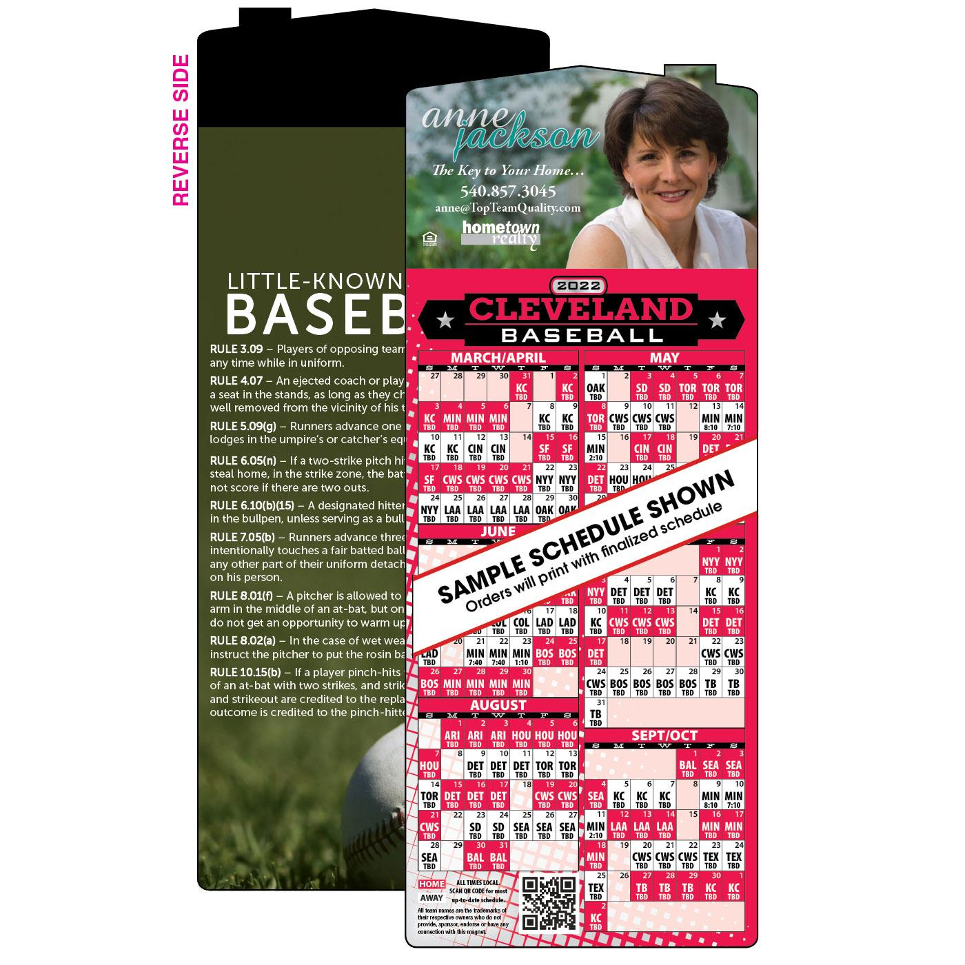 Baseball Schedules | Magnets USA®