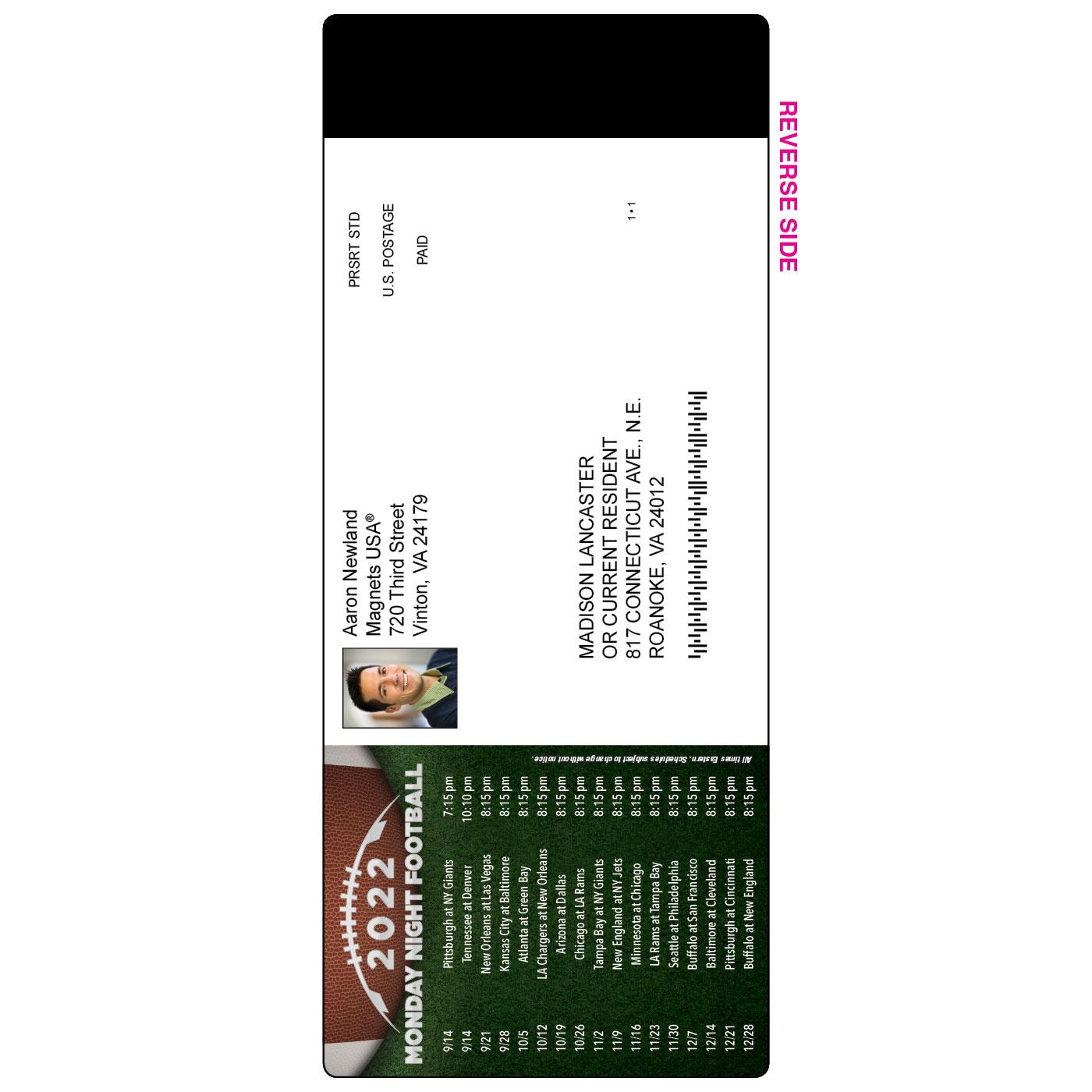 Magnetic Card Baseball Schedule