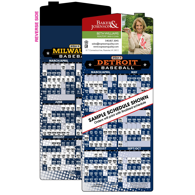 2-Team Baseball Schedule Magnet