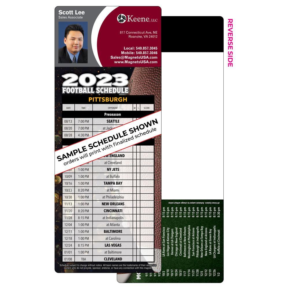 1 Team Football Schedule Magnet