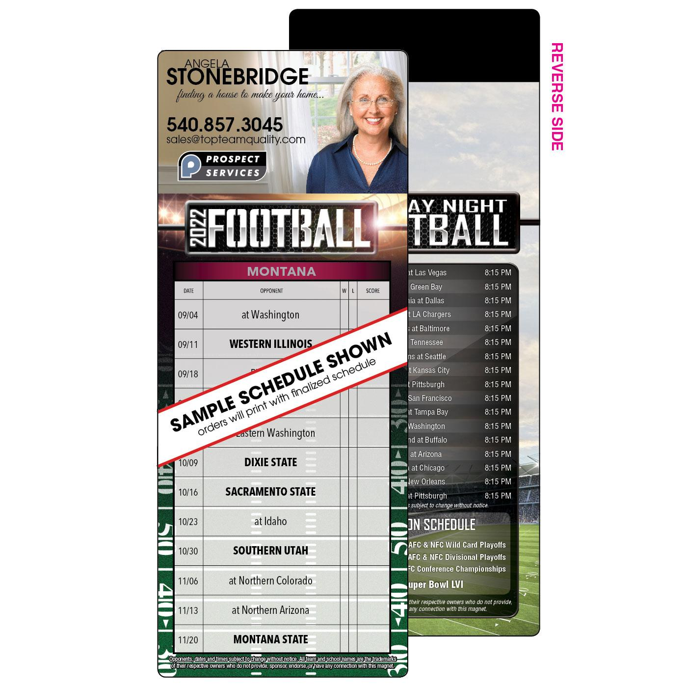 1 Team Football Schedule Magnet