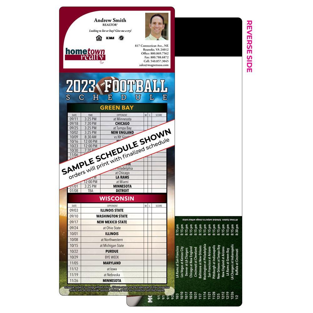 Self-Mailing Football Magnet