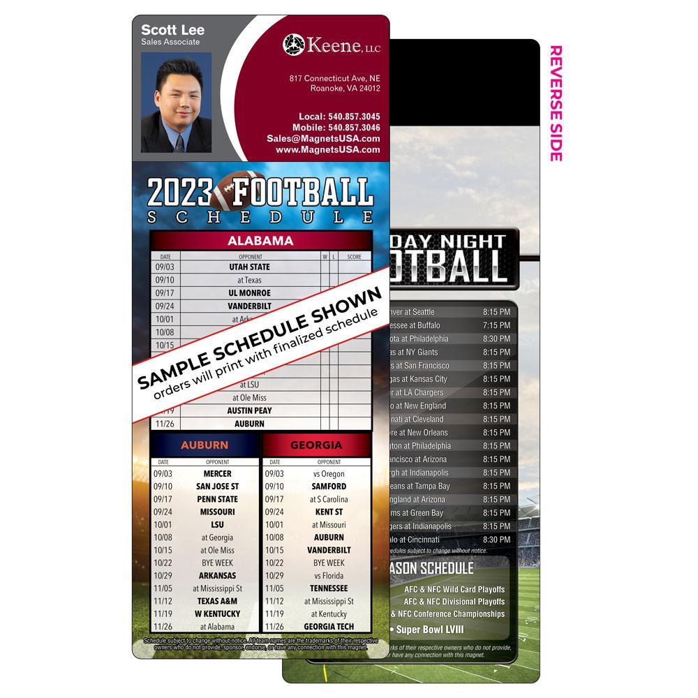 3 team football schedule magnet