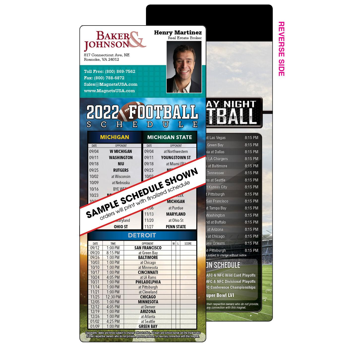 house shaped football schedule