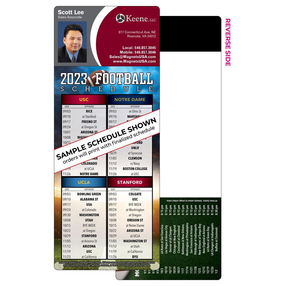 4 team football schedule magnet