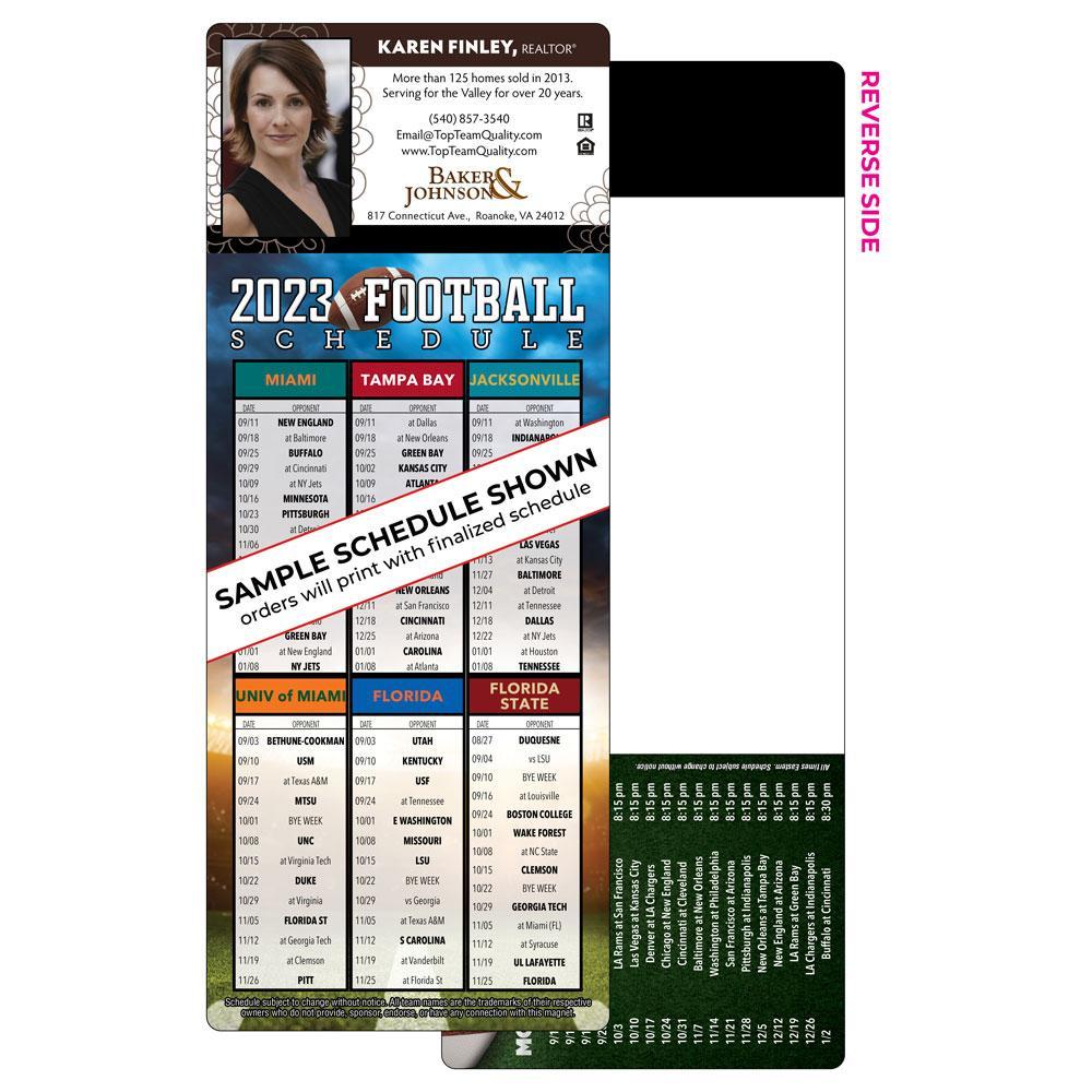 6 team self mailer football magnet