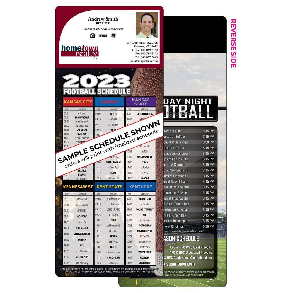 6 Team Football Schedule Magnet