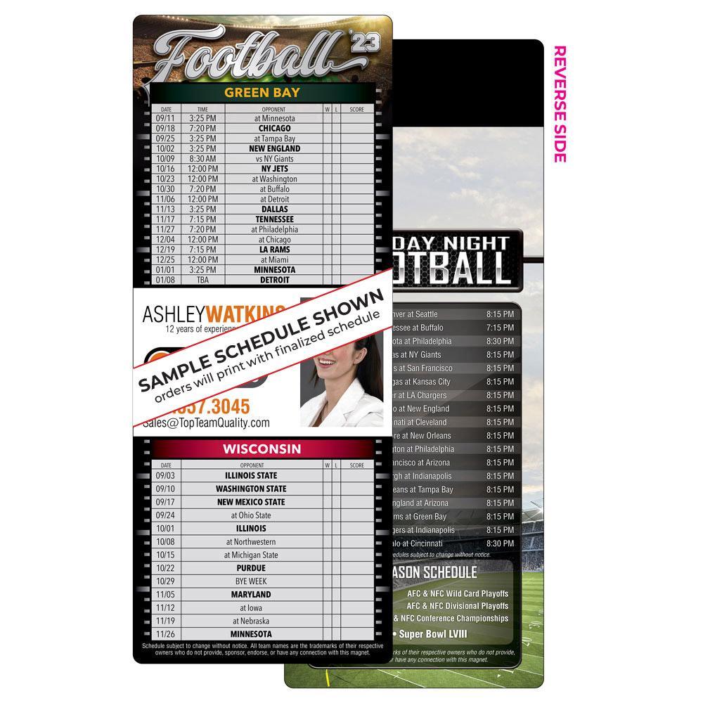 2 Team Football Schedule Magnet