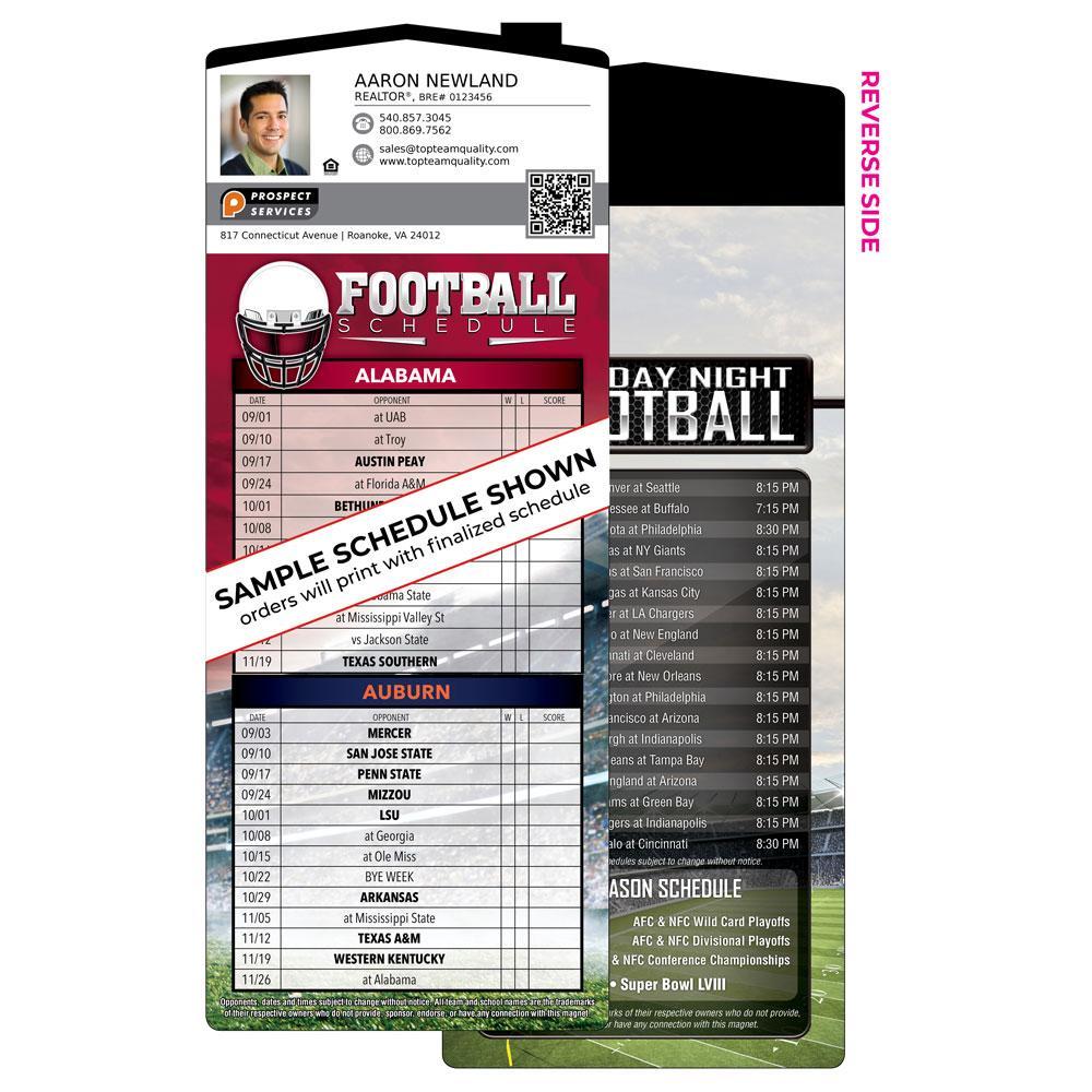 House Shaped Football Magnet