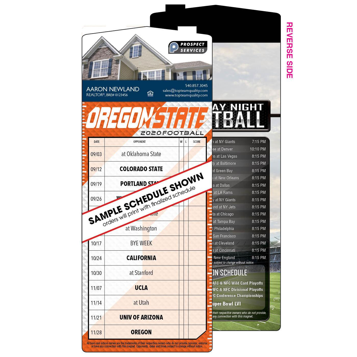 Fanatic Magnetic Football Schedule - House Shape