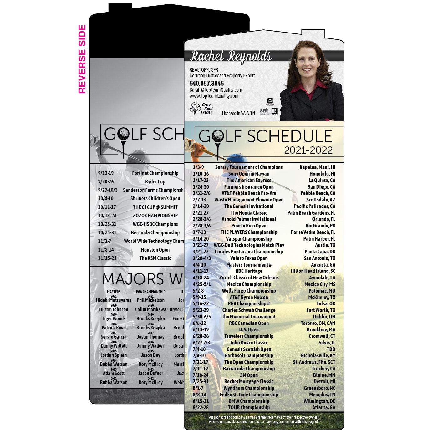 Golf Schedule with House Magnet