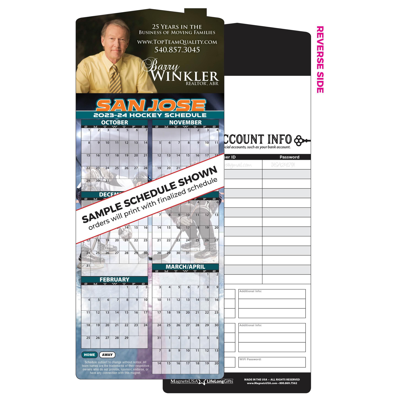 1-Team Magnetic Hockey Schedule