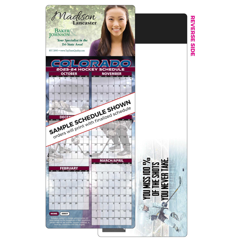 Self-Mailer Hockey Schedule Magnet