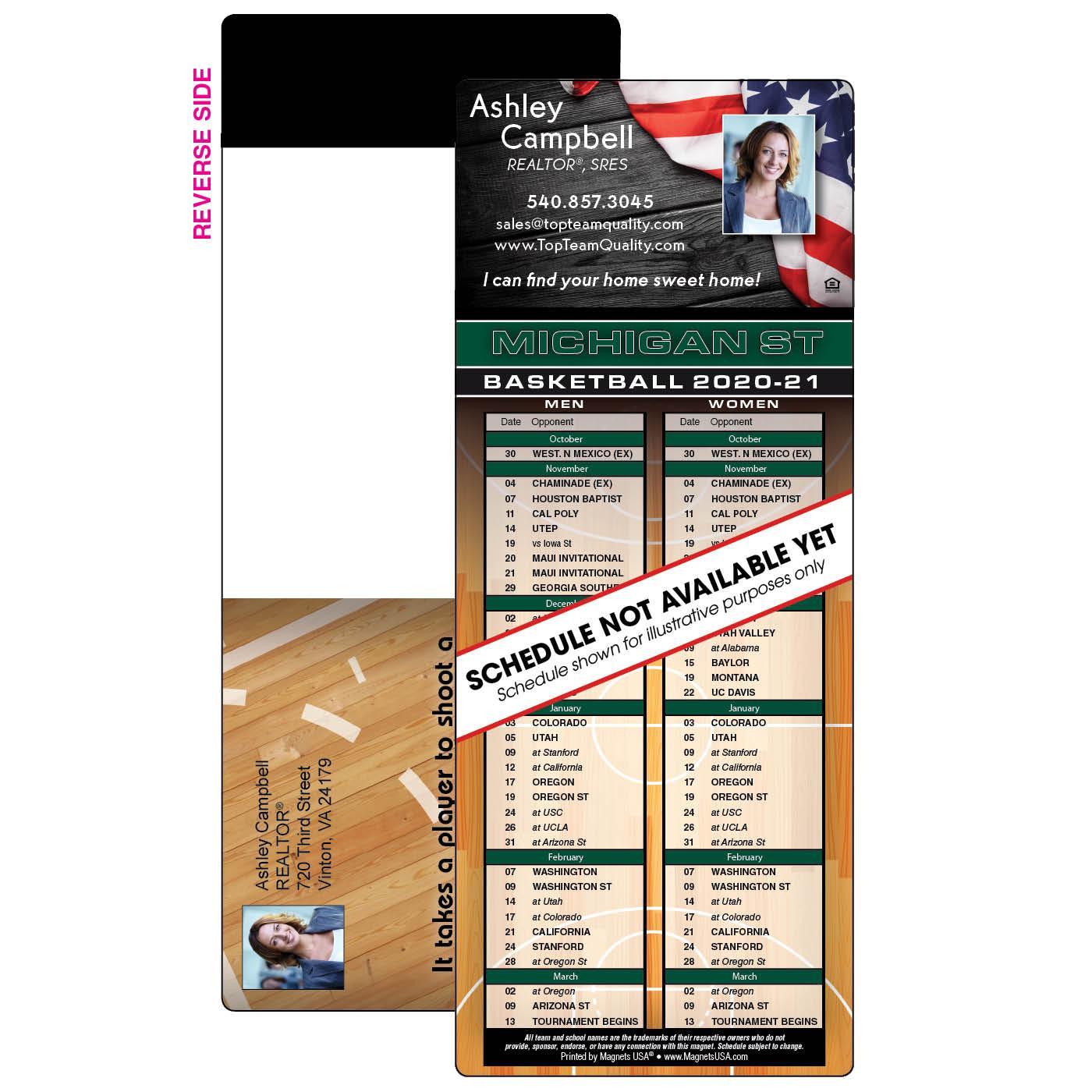 Self-Mailer Basketball Schedule