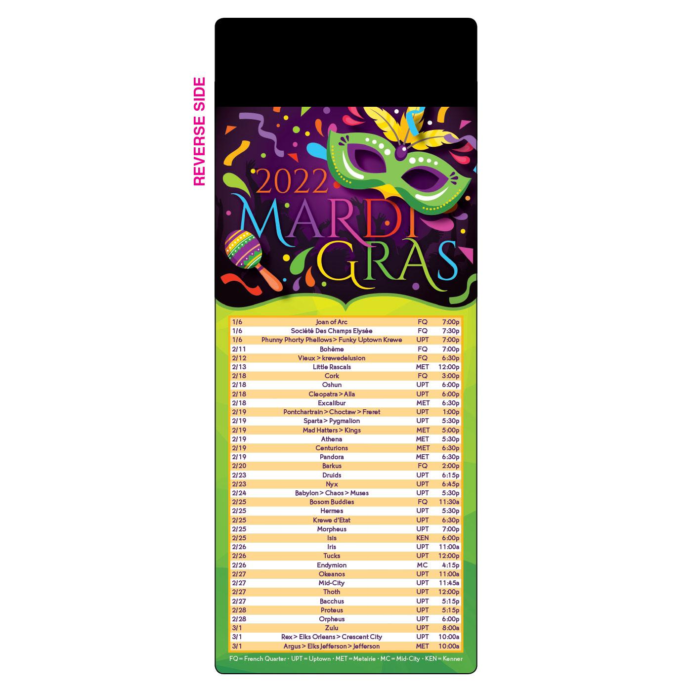 New Orleans Event Schedule