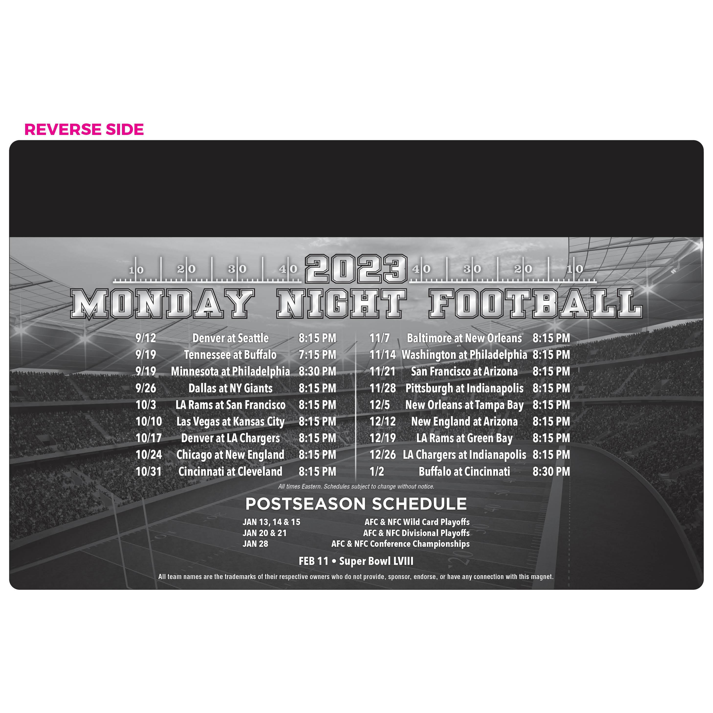 10-Team Football Schedule Magnet