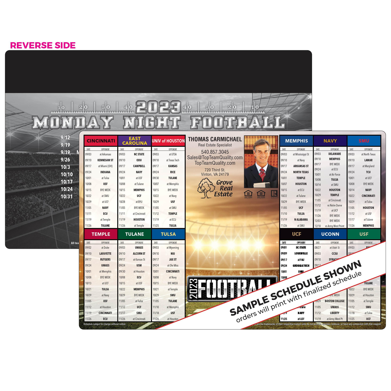 12-Team Football Schedule Magnet