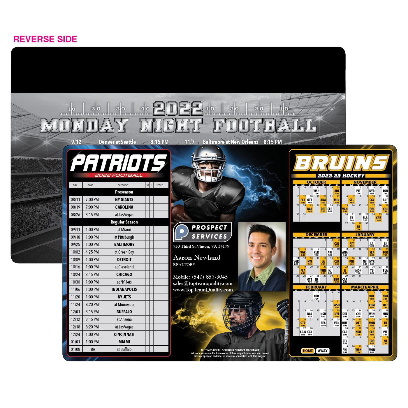 Patriots Bruins Sports Schedule