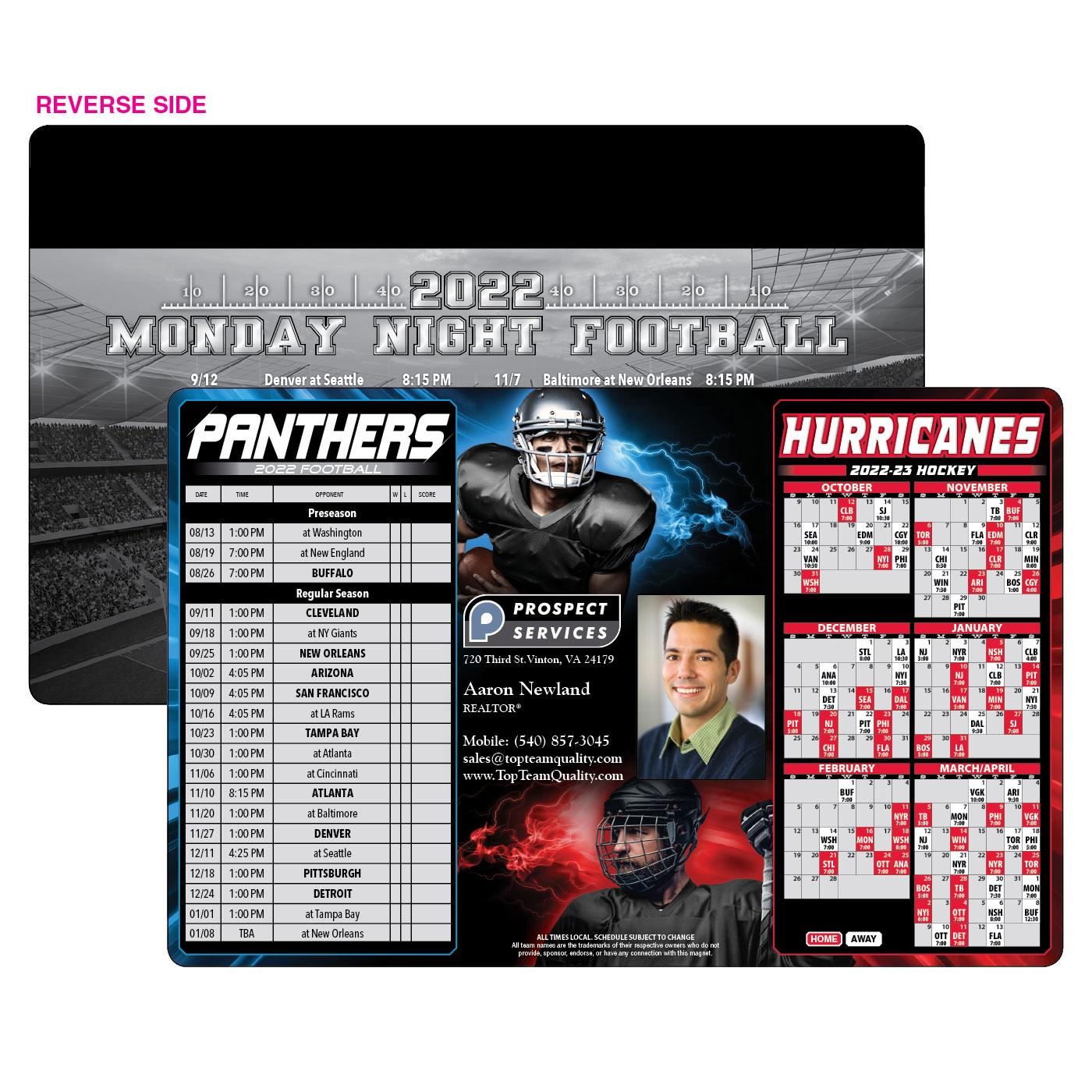Panthers Hurricanes Sports Schedule