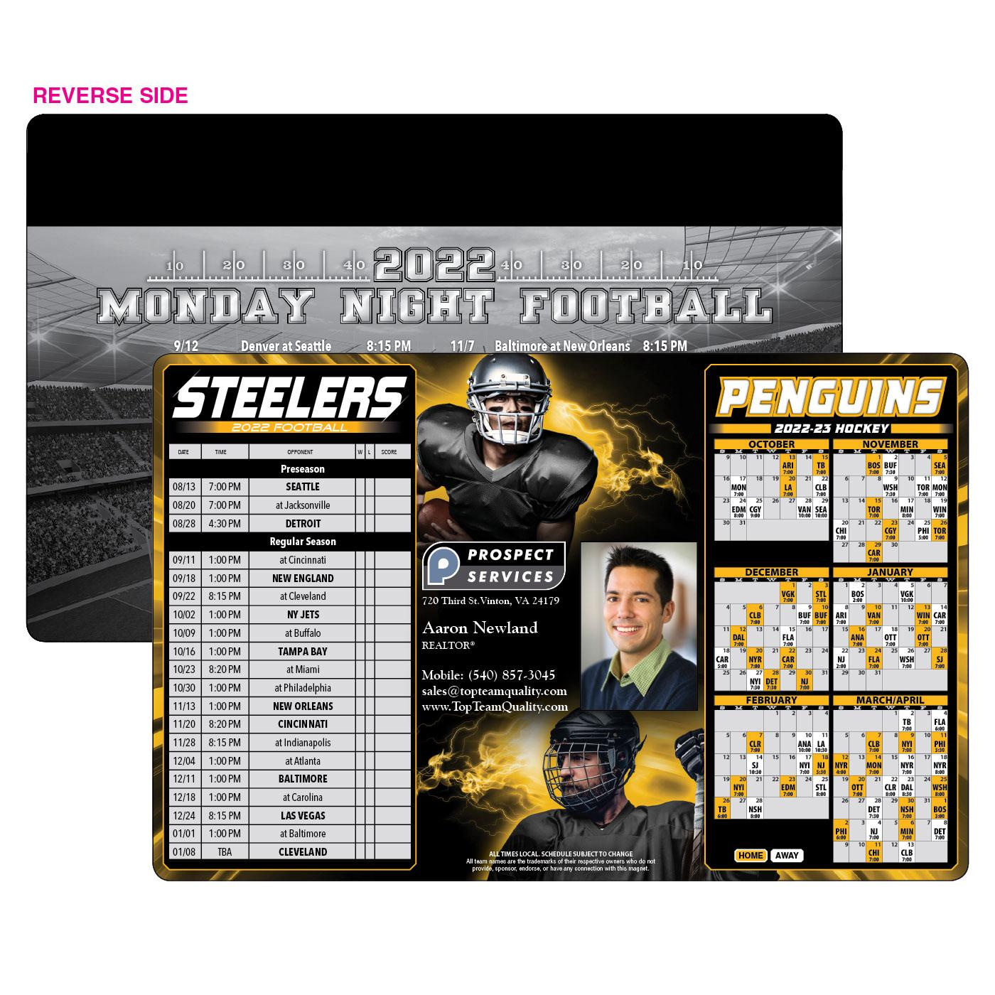 Steelers Penguins Sports Schedule