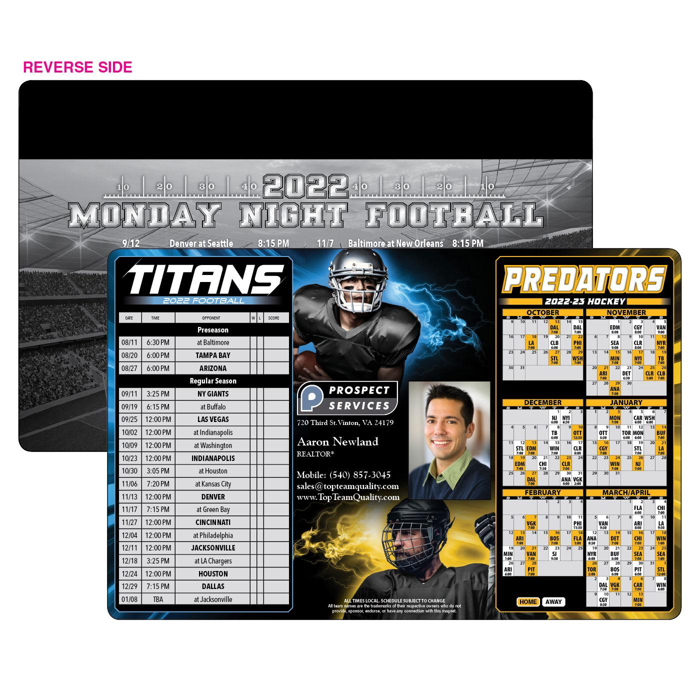 Titans Predators Sports Schedule