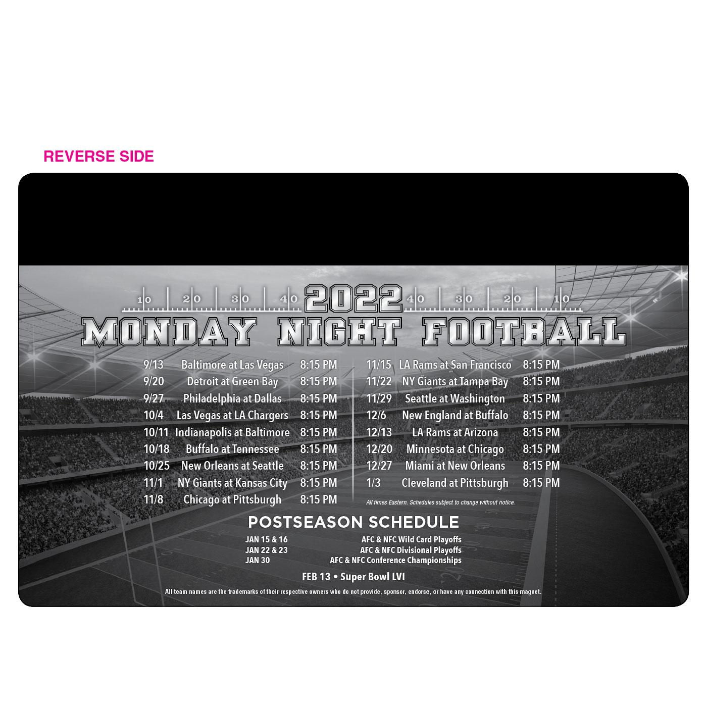 SEC Conference Schedule Magnet