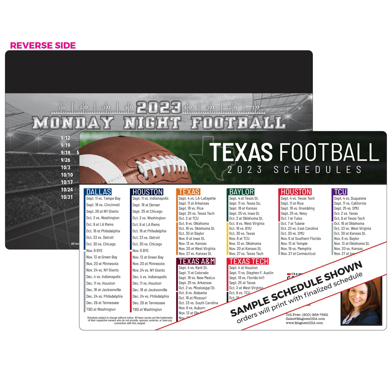 Texas Teams Football Magnet