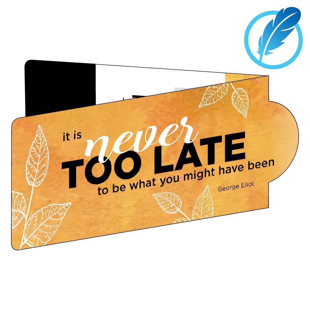 motivational magnetic business bookmark