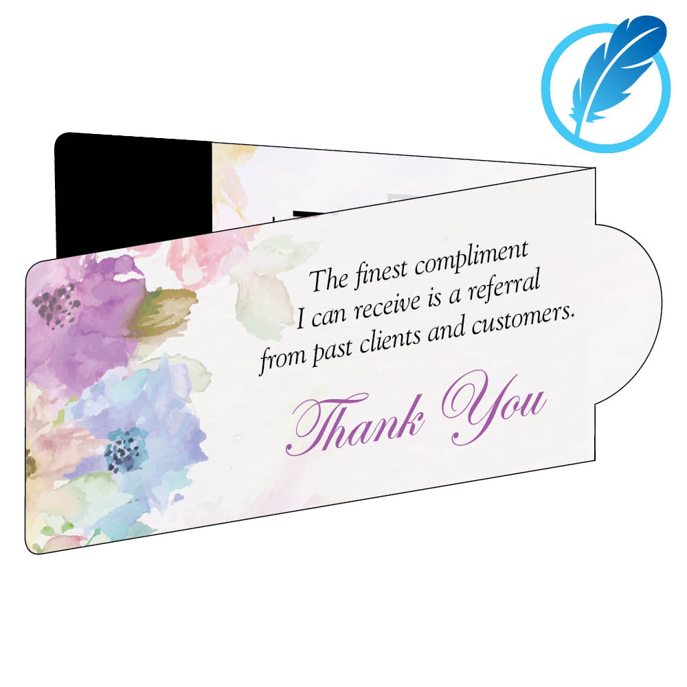 Thank you magnetic business bookmark