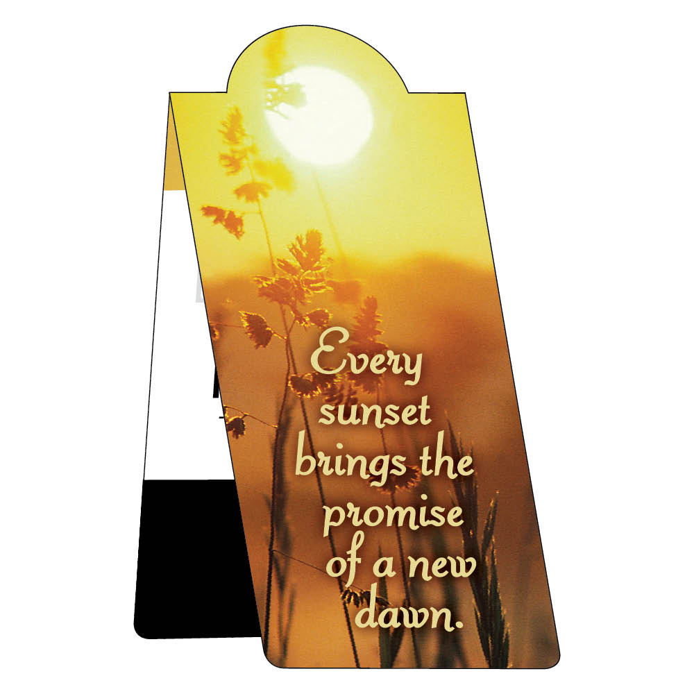Sunset magnetic bookmark