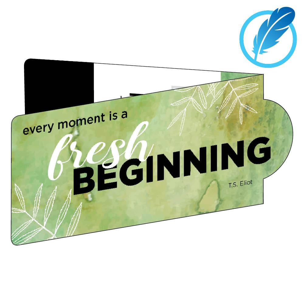Fresh beginning magnetic bookmark