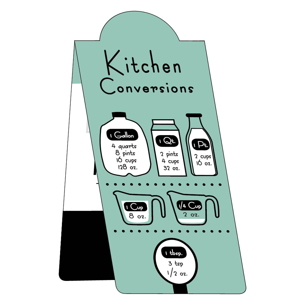 Kitchen conversions magnetic business bookmark