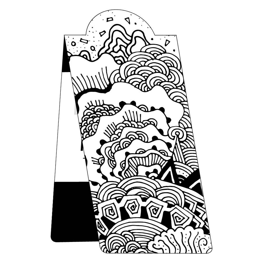 Color me magnetic bookmark